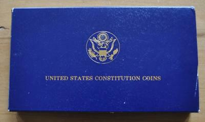 US 1987 $5 Gold $1 Silver Constitution Coin Set - Uncirculated in US MInt Pkg