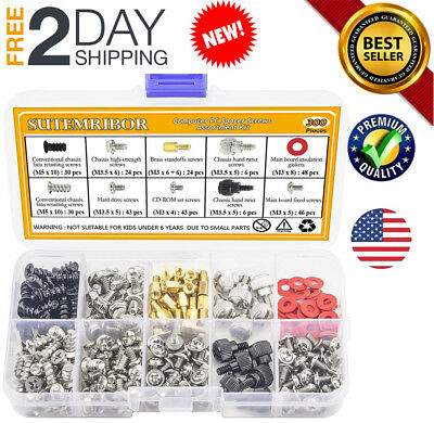 300PCS Personal Computer Screw Standoffs Set Kit For Hard Drive Case Motherboard