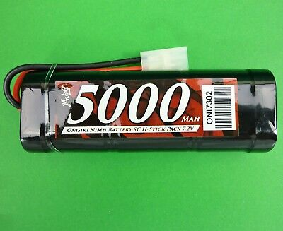 Onisiki 5000 mAh 7.2 volt Sub C stick pack battery for 1:10 RC suit Axial Gmade
