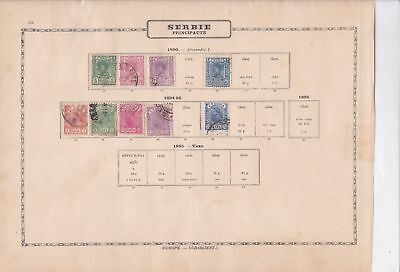 serbia early  stamps as shown ref 12323