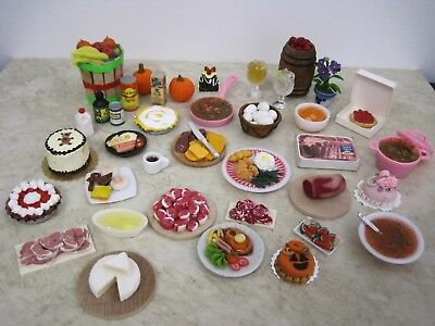 Barbie *dishes, Food, Miniatures, Dollhouse, Kitchen Lot - Artist Made #6