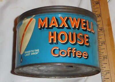 vintage maxwell House Coffee Tin Can EMPTY one pound size no lid