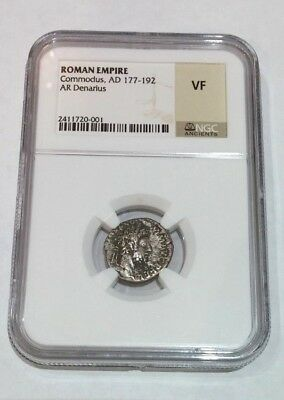 Roman Empire Commodus, AD 177-192 AR Denarius Coin