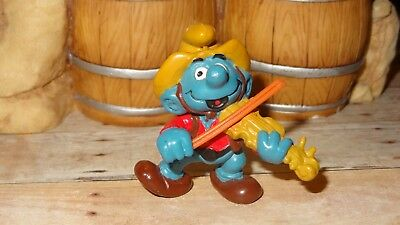 Smurfs Fiddle Violin Player Smurf Vintage Rare Classic Display Figurine
