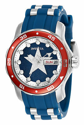 Invicta Marvel Captain America Limited Edition Womens 38mm Stainless Watch 25704