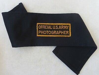 WW2 Vintage US ARMY OFFICIAL PHOTOGRAHER ARMBAND with PATCH Insignia ORIGINAL