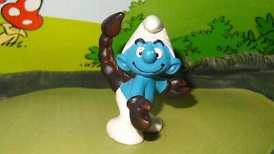 Smurfs Horoscope Scorpion Scorpio Smurf Vintage Rare Classic Display Figure