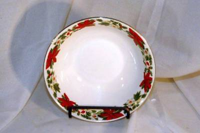 Gibson Designs Poinsettia Holiday Coup Soup/Cereal Bowl