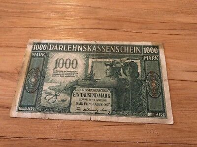 Germany 1000 Marks From 1918 In VF Condition Rare