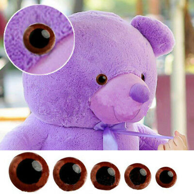 100x Brown Plastic Safety Eyes for Bear Doll Puppet Plush Animal Toy 14/16/18mm
