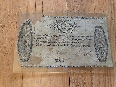 Iceland Ein Thayler From 1819 World Banknote In Fair Condition Very Rare