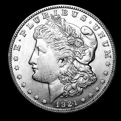 1921 S ~**ABOUT UNCIRCULATED AU**~ Silver Morgan Dollar Rare US Old Coin! #122