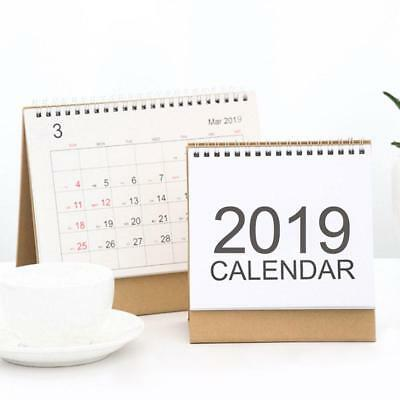 Desk-Top Flip Calendar Month To View Stand Up Office Home Table Planner 2019