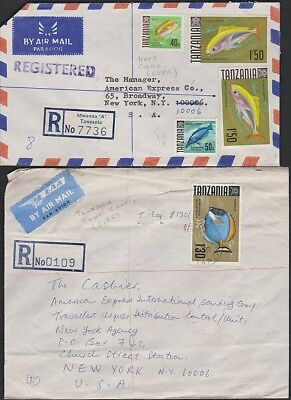 TANZANIA Two registered  fish covers