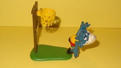 Smurfs Basketball Super Smurf Vintage Rare Display Classic Figure