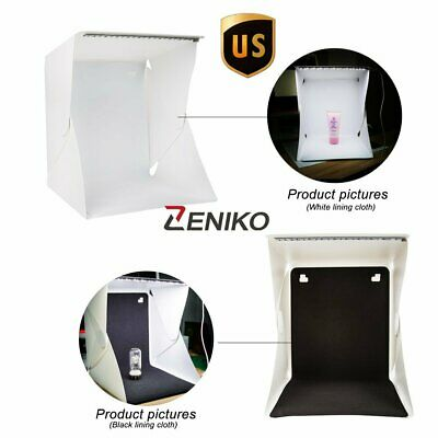 Mini Photo Studio Light Box Photography Backdrop LED Portable Light Tent