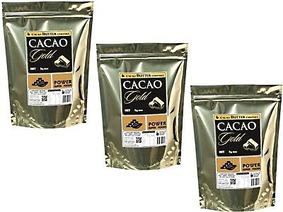 3 x 1kg POWER SUPER FOODS CACAO GOLD POWER Butter Chunks ( total 3kg )