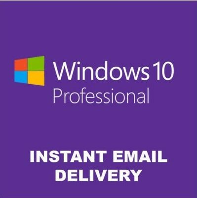 Microsoft Windows 10 Pro 32 64 bit Instant Download Product Serial Key