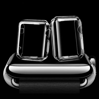 For iWatch Apple Watch Series 4 3 2 1 Screen Protector Clear Case Cover 38/42mm