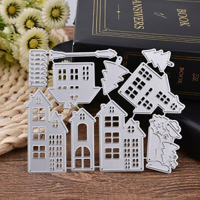 House Metal Cutting Dies Stencil Scrapbook Paper Craft Embossing DIY Die-Cut