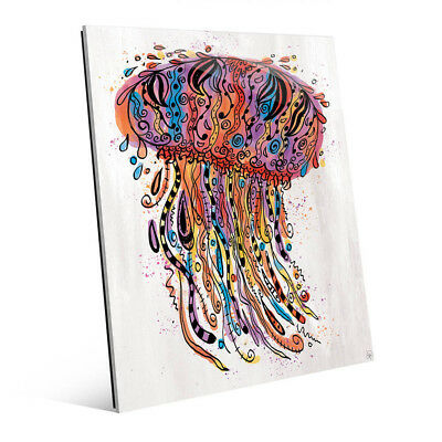 Colorful Wild Jellyfish Wall Art Print on Acrylic