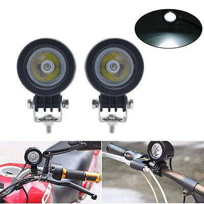 2PC 10W LED spot Work Light Lamp Driving Fog 12V Car Motorcycle Boat ATV