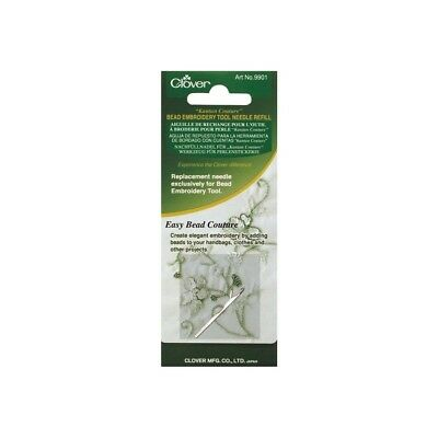 Clover 9901 Kantan Couture Bead Embroidery Tool Needle Refill-single Ply -