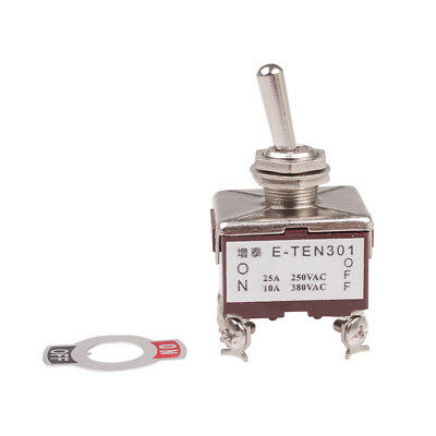1Pcs 3PST 6 Terminals On-Off 2 Position Toggle Switch AC 15A/250V 10A/380V