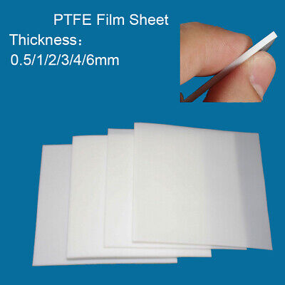 0.5/1/2/3/4/6mm Thickness Teflon PTFE Film Plate High Temperature Plastic Sheet