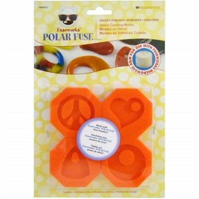 Diamond Tech Crafts Silicone Fuseworks Polar Fuse Glass Casting Molds 2.25-inch