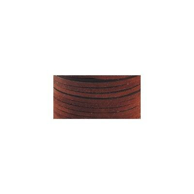 Realeather Crafts Suede Lace, 0.125-inch Wide 25-yard Spool, Medium Brown -
