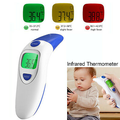 LCD Digital Dual Mode Forehead Body and Ear Infrared Thermometer For Babies