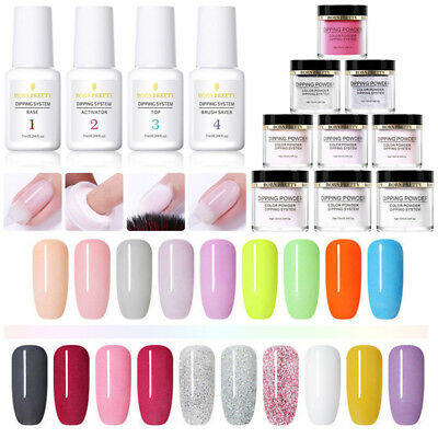 10ml NICOLE DIARY Pro Dipping Powder Liquid Nail Polish Starter Kit NO UV