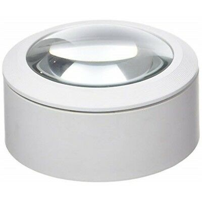 Lightcraft Lc1875 LED Dome Magnifier - White - Daylight Portable 3 Batteries