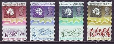 British Antarctic Territory B A T 1971 SC 39-42 MH Set 10th Anniversary
