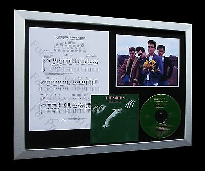 THE SMITHS+MORRISSEY Big Mouth LTD Nod CD FRAMED DISPLAY+EXPRESS GLOBAL SHIPPING