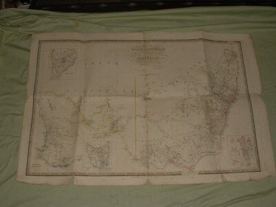 An antique Map of South Australia by James Wyld.