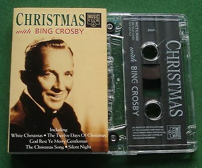 Christmas With Bing Crosby inc White Christmas + Cassette Tape - TESTED