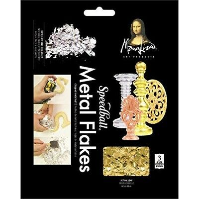 Speedball 10009 Mona Lisa Gold Flakes - Composition Metal Leafing Flakes - 3 -