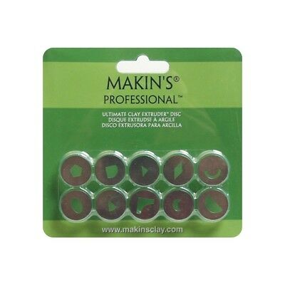 Makin's Usa Professional Ultimate Clay Extruder Discs, Set B, 10 Per Package -