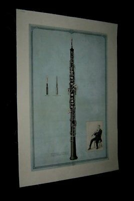 Original 1931 VICTOR TALKING MACHINE OBOE Advertising Poster #8 LINENBACKED