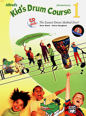 Sheet Music Dave Black Alfred's Kid's Drum Course I Book & Cd