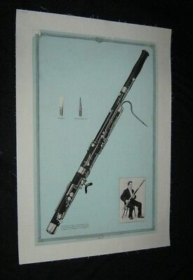 Original 1931 VICTOR TALKING MACHINE BASSOON Advertising Poster #12 LINENBACKED