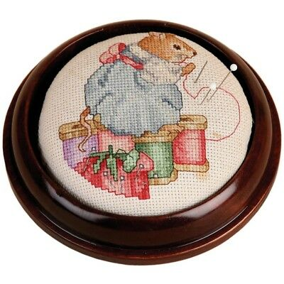 Sudberry House 15741 Round Pincushion With 3-3/4-inch Design Area, 4-3/4-inch,
