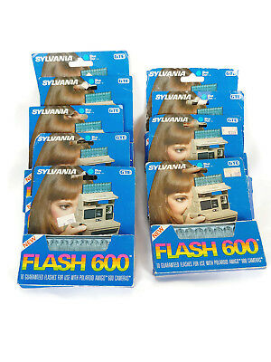 Lot 9 NOS Vtg SYLVANIA Blue Dot GTE 10 FLASH 600 Bulbs for Polaroid Amigo Camera