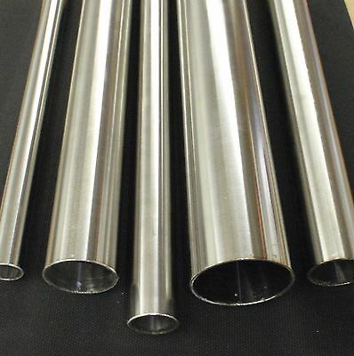 """Stainless Steel Tubing 1 1/2"""" O.d. X 6 Inch Length X 1/16"""" Wall Polished"""