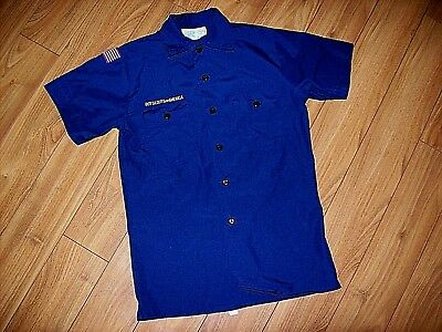 Boy Scouts Of America-Youth S/s Blue Uniform Cub Scout Shirt -Sz Large-Nwot's