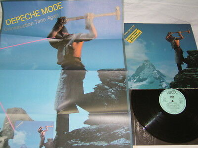 """LP - Depeche Mode Construction Time Again - """" Poster """" OIS 1983 # cleaned - 3"""