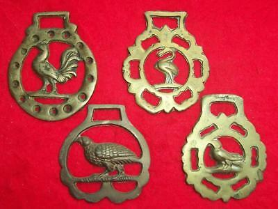 Collection of 4 x Vintage Cast Horse Brasses all of Different Bird Designs #1