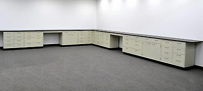 Laboratory Cabinets - 38' Base & 34' Wall  w/ Counter Tops CV OPEN 2